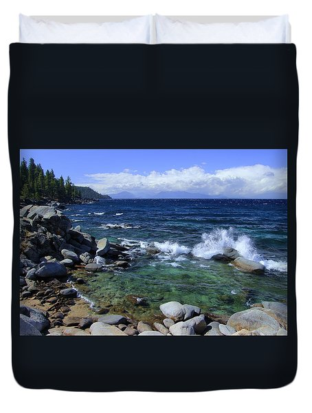 Lake Tahoe Wild  Duvet Cover