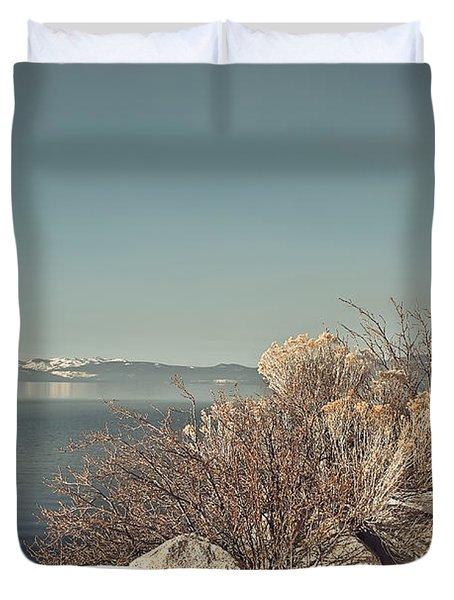 Lake Tahoe Winter Duvet Cover by Kim Hojnacki
