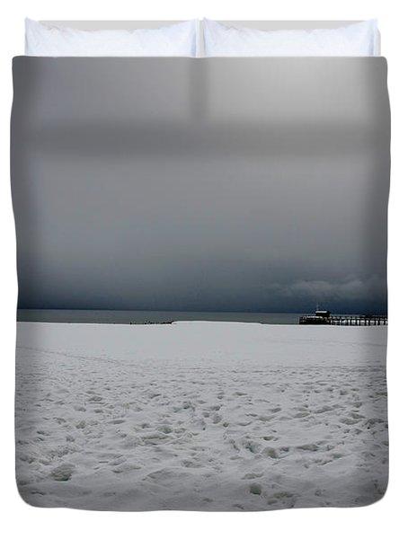 Lake Tahoe Winter Duvet Cover