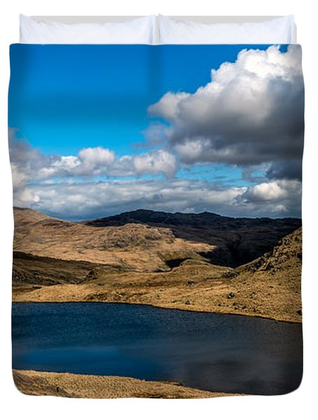 Lake Teyrn Snowdonia Duvet Cover by Adrian Evans