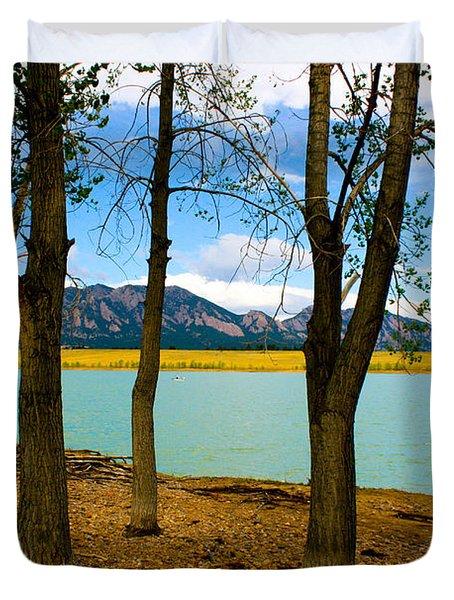 Lake Through The Trees Duvet Cover