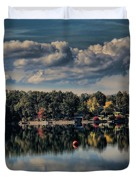 Lake Thunderbird Autumn Duvet Cover
