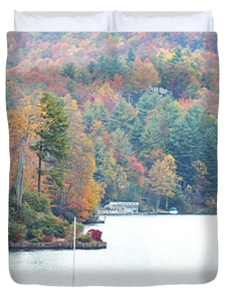 Lake Toxaway In The Fall Duvet Cover