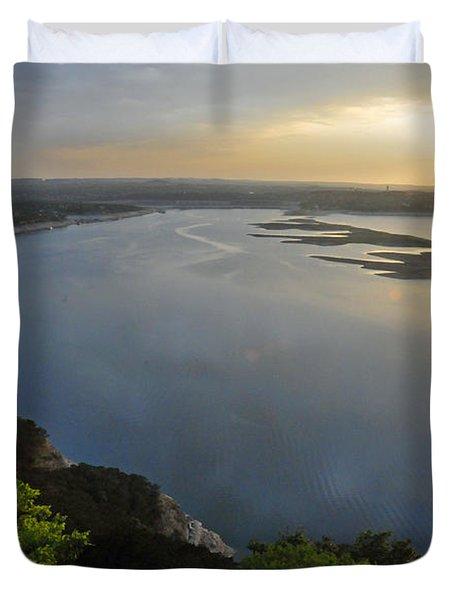 Lake Travis Sunset Duvet Cover