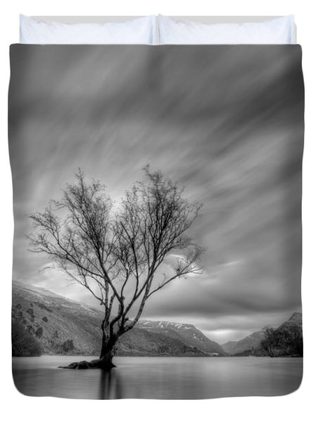 Lake Tree Mon Duvet Cover