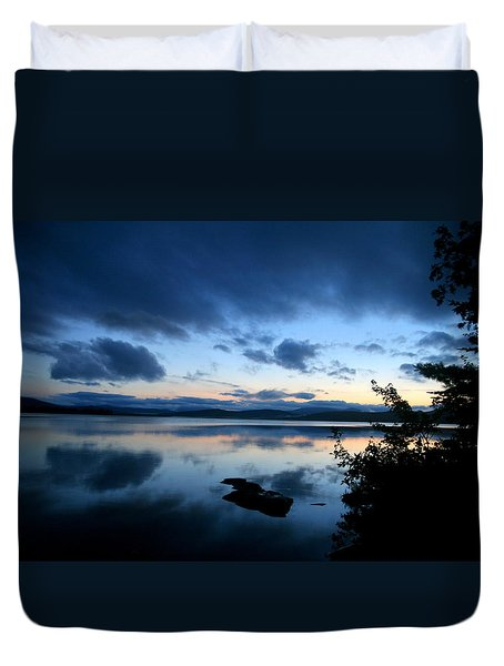 Lake Umbagog Sunset Blues No. 2 Duvet Cover by Neal Eslinger