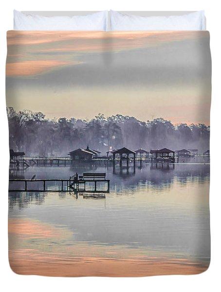 Lake Waccamaw Morning Duvet Cover