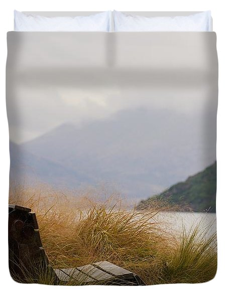 Lake Wakatipu Bench Duvet Cover