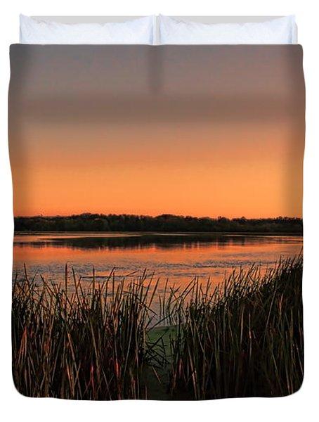 Lake Wausau Marshgrass Duvet Cover