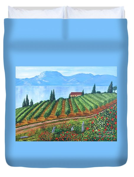 Lakeside Vineyard Duvet Cover