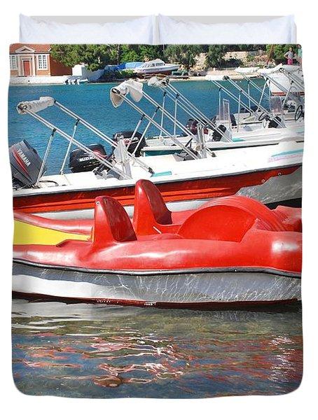 Lakka Harbour Paxos Duvet Cover