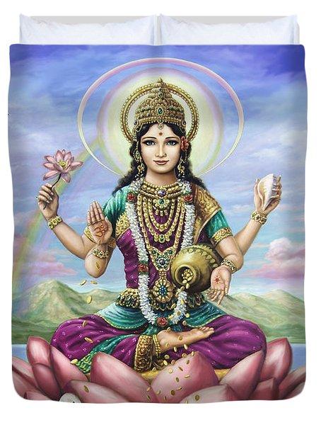 Lakshmi Goddess Of Fortune Duvet Cover