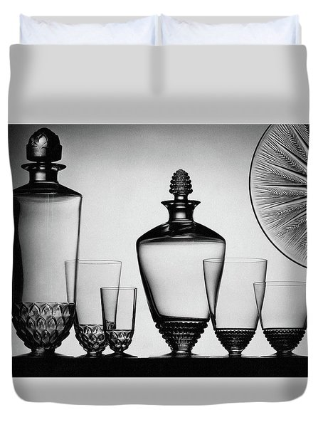 Lalique Glassware Duvet Cover by The 3