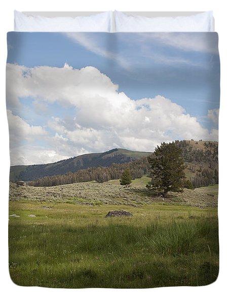 Lamar Valley No. 2 Duvet Cover by Belinda Greb