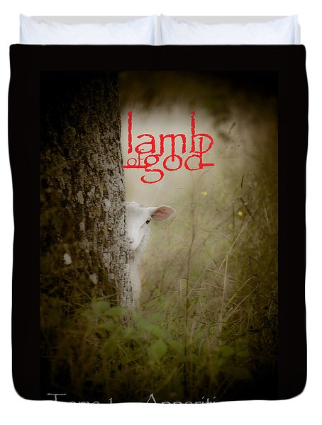 Lamb Of God Book Cover Duvet Cover by Loriental Photography