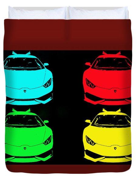 Lambo Pop Art Duvet Cover by J Anthony