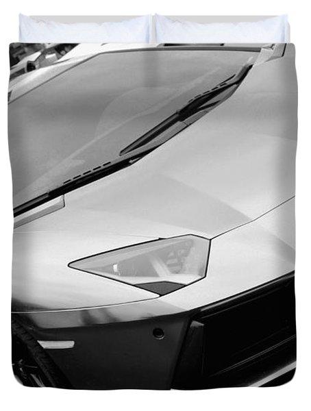 Black And White Shine Duvet Cover