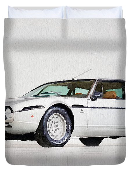 Lamborghini Espada Watercolor Duvet Cover