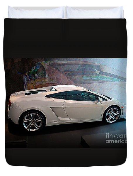 Lamborghini Gallardo Lp550-2 Side View Duvet Cover