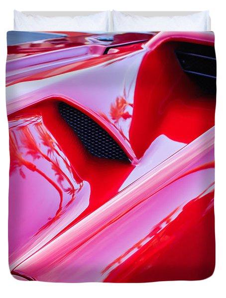 Lamborghini Side Emblem -0116c Duvet Cover by Jill Reger