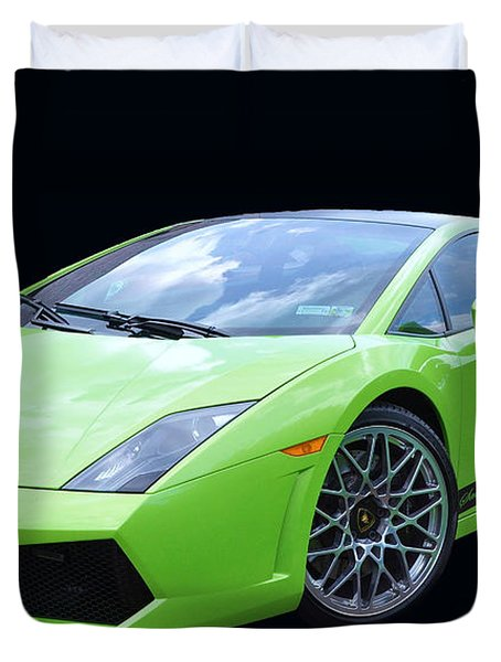 Lambourghini Salamone  Duvet Cover by Allen Beatty