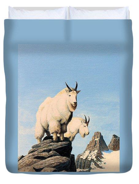 Lamoille Goats Duvet Cover