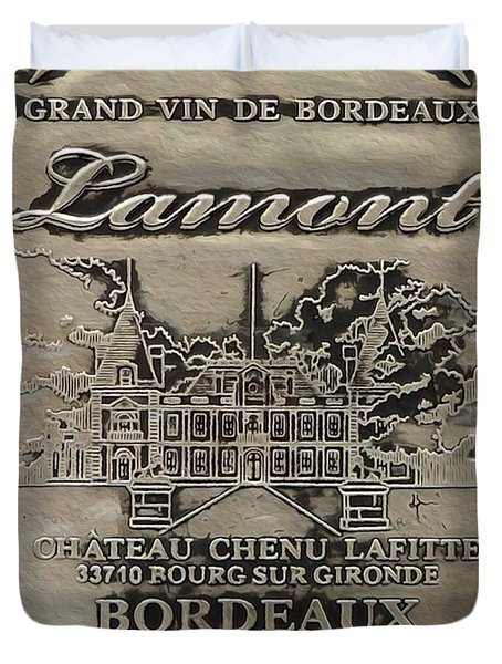 Lamont Grand Vin De Bordeaux  Duvet Cover
