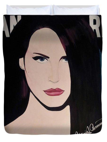 Lana Del Rey Blue Eyes Duvet Cover