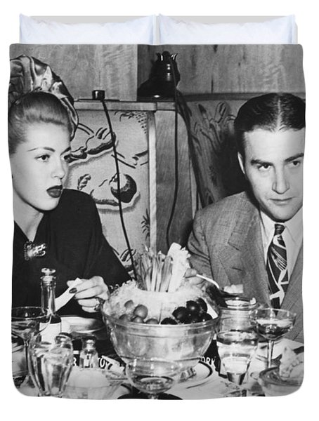 Lana Turner And Artie Shaw Duvet Cover