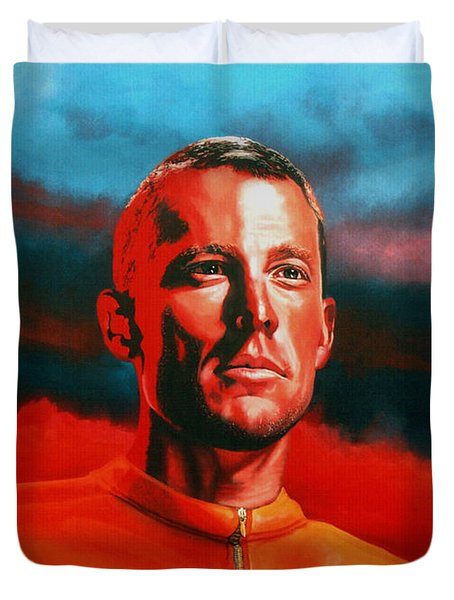 Lance Armstrong 2 Duvet Cover