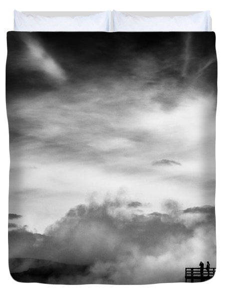 Land Of Fire Duvet Cover by Dave Bowman