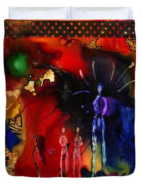 Land Of The Giants Duvet Cover by Angela L Walker