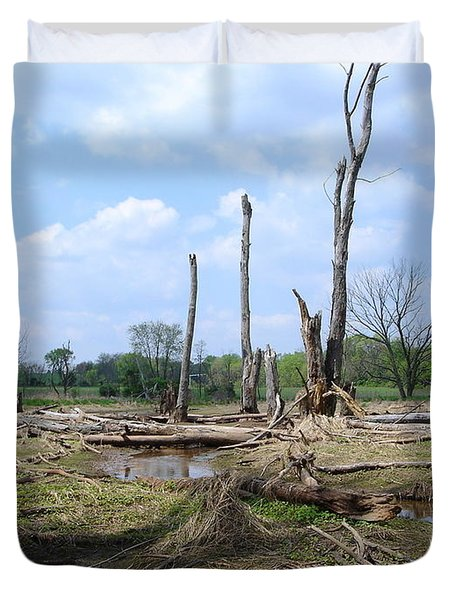 Duvet Cover featuring the photograph Land Of The Lost by Jane Ford