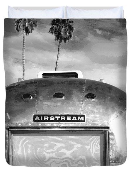 Land Yacht Bw Palm Springs Duvet Cover