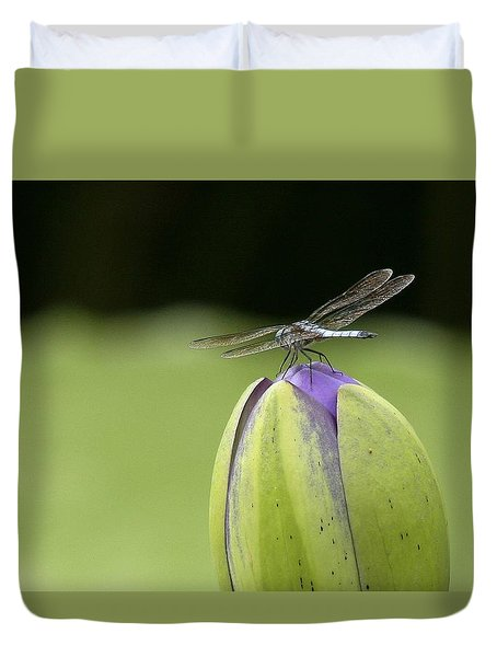 Landing Pad Duvet Cover by Yvonne Wright