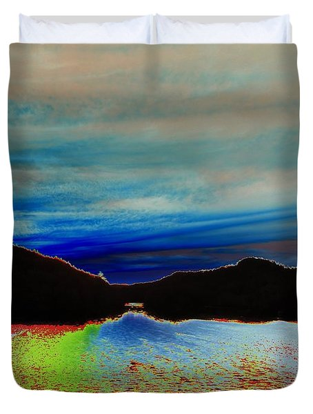 Landscape Abstract Duvet Cover