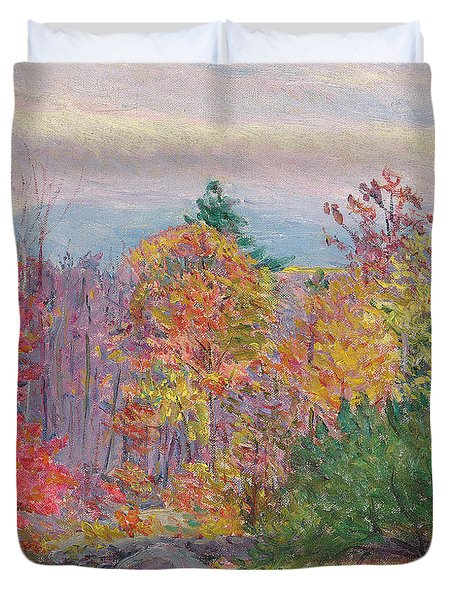 Landscape At Hancock In New Hampshire Duvet Cover by Lilla Cabot Perry