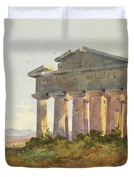 Landscape At Paestum Duvet Cover by Arthur Glennie