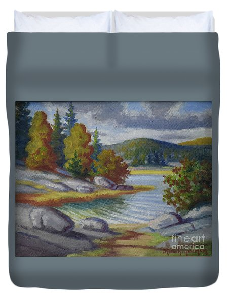 Landscape From Finland Duvet Cover by Kolehmainen