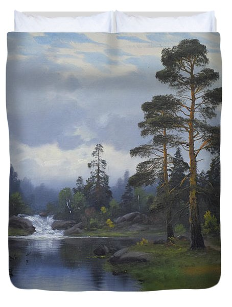 Landscape From Norway Duvet Cover