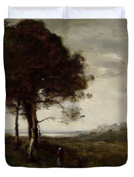 Landscape Duvet Cover by Jean Baptiste Camille Corot