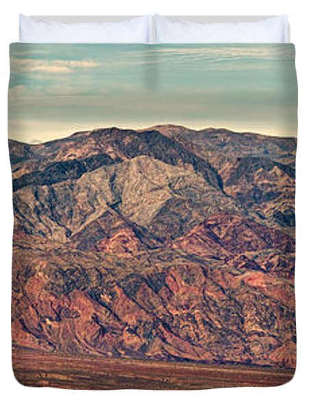 Landscape With Mountain Range Duvet Cover by Panoramic Images