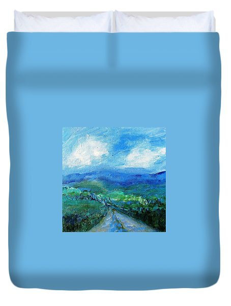 Lane To The Wicklow Hills Duvet Cover