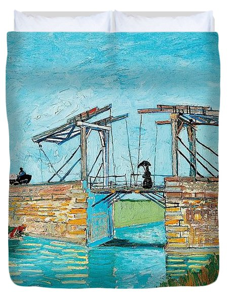 Langlois Bridge At Arles Duvet Cover by Vincent van Gogh