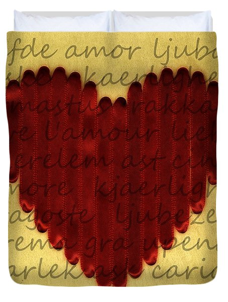 Languages Of Love Duvet Cover