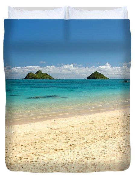 Lanikai Beach 2 - Oahu Hawaii Duvet Cover by Brian Harig