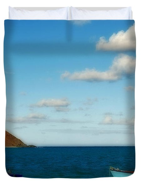 Duvet Cover featuring the photograph Lanikai Beach by Caroline Stella