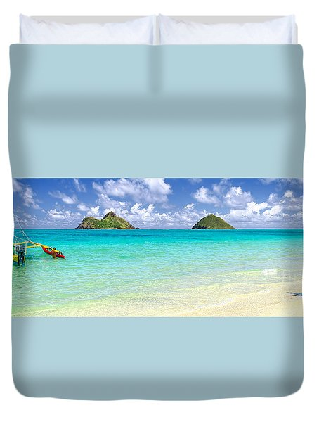 Lanikai Beach Paradise 3 To 1 Aspect Ratio Duvet Cover