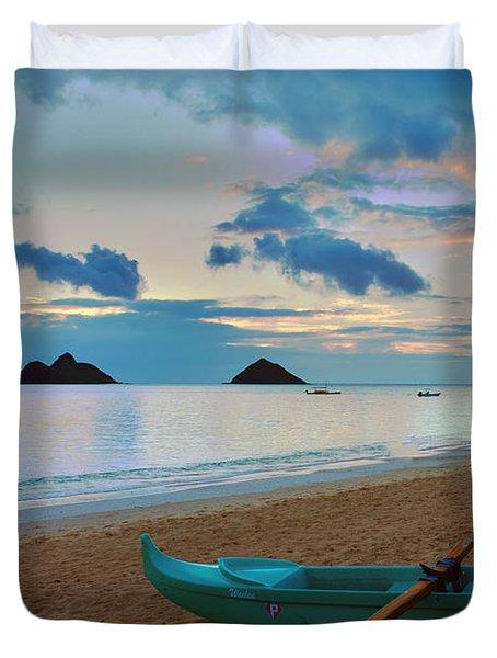 Lanikai Beach Sunrise 6 - Kailua Oahu Hawaii Duvet Cover by Brian Harig