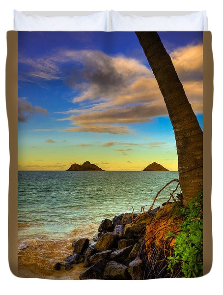 Lanikai Island Sunset Duvet Cover